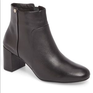 Taryn Rose Camille Black Leather Boots Booties